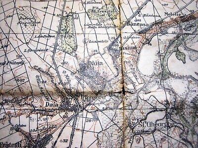 1937 Giurgiu Romania Institutul Geografic Militar Original Vintage Map 6
