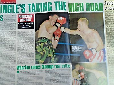 BOXING NEWS - 2nd oct 1998 - herbie, paul, lewis holyfield, naz free p&p to uk 4