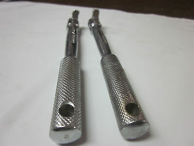"2pc HERBRAND 1/4"" DRIVE FLEX HEAD BREAKER BAR 23006 USA EXTENSION RATCHET SOCKET 3"