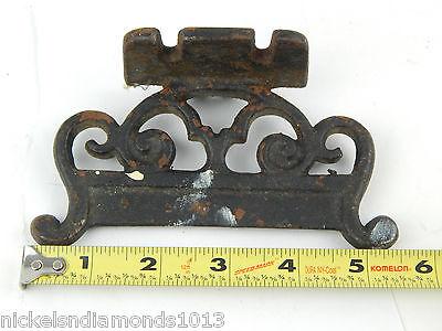 "Antique Rustic Cast Iron 5"" Mountable Boot Scrape Scrolling Primitive 6"