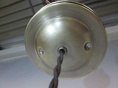 """Vintage Industrial Drop Pendant Light Wooden Handle Scientific Cone Shade 13"""" 6"""
