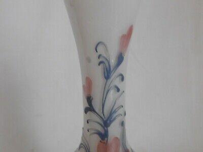 kleiner vase Knospenvase aus Glas Dekor Blumenmuster emailliert Murano ? 4