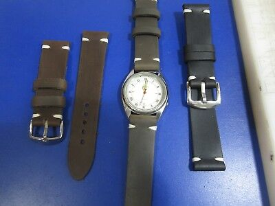 20mm-22mm Correa Reloj cuero Pulsera Leather Watch Band Strap 2