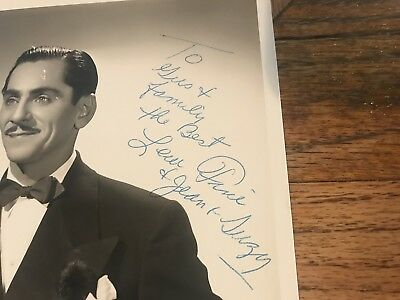 Lew Fine Comedian Master Of Ceremonies Autographed Photograph To Gus & Family 2