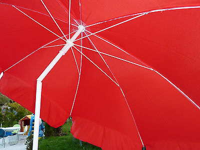 Bastschirm Hawaii Sonnenschirm mit Knicker Rund 200 cm ROT NEU
