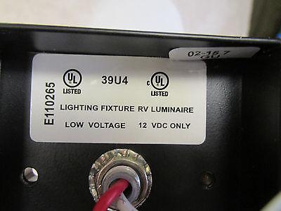 Rv Luminaire Multi Directional Swivel 12v Light Fixture Frosted Lamp Shade
