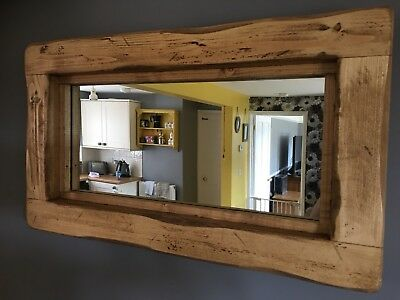 Mirror Rustic Wooden Farmhouse, Wood Rustic Mirror
