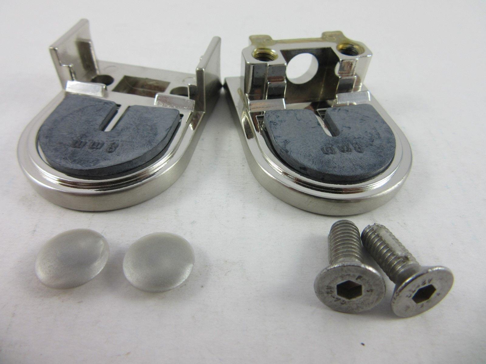 Glasklemme Glashalter Klemmbefestigung 8mm Zink Edelstahleffekt mattverchromt 53