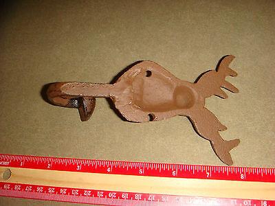 Antique Cast Iron Coat Hook, shaped like a Buck Deer or Stag, Door Hanger, OLD!!