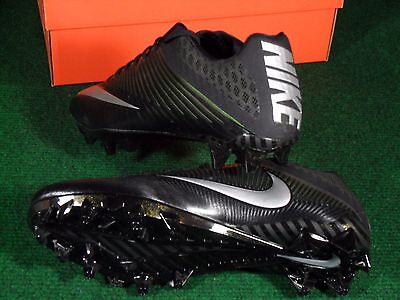 ... New Mens Nike Vapor Speed 2 TD Low Football Cleats Black Metallic  Silver 833380 2 61f66f2137e