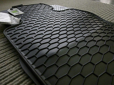 NEU Lengenfelder Gummimatten für BMW F30 F31 3er RAND ROT Gummi Fußmatten