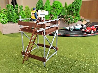 TV Camera and Cameraman for Scalextric Carrera go Scenery 3DPrinted Approx 1:43