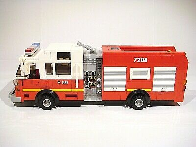 Fire Truck ONLY PDF INSTRUCTIONS! LEGO Custom Modular Building