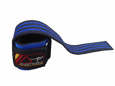 Austodex Weight Lifting Power Bar Wrist Straps wraps Bodybuilding Gym gloves 5