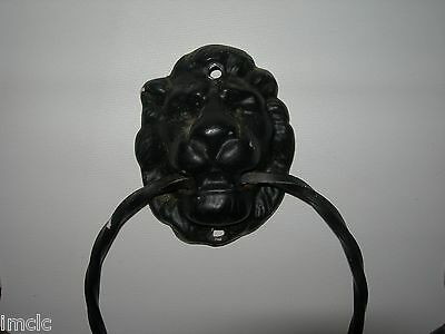 Set of 3 Vintage~Cast Iron LION HEADS~MGM Style~Knockers 3