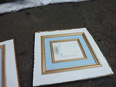 "circa 1902 painted pine WAINSCOT paneling raised panels 27/28"" x 27, 55, 61 & 72 2"