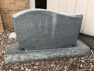 Tombstone Monument Barre Gray Wave Granite Gravestone Marker