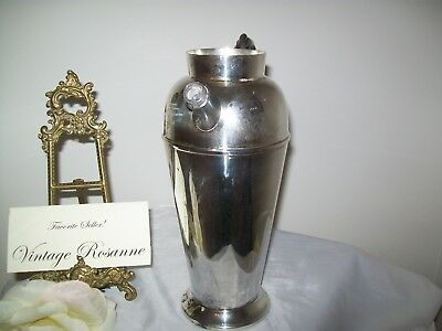 Silver Plated Pitcher Victorian Plate Canada Vintage Coffee Martini Serve Vase 10