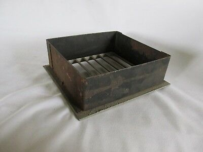 Vintage Metal Square Heat Vent, Salvaged Steampunk 4