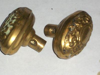 Antique Itallian Oval Door Knob Set 4