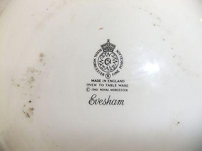C4 Porcelain Royal Worcester Evesham (stamped Evesham) 3D2A 3