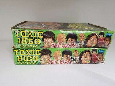 1992 Topps Toxic High School Collectible Trading Pack Sticker Box 2 BOX LOT 5