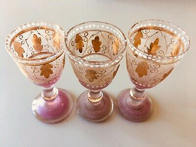 Altes Tablet mit 18 Gläsern (davon Ist 1 Glas Eigentlich Eine Vase) Ohne Tablett 6