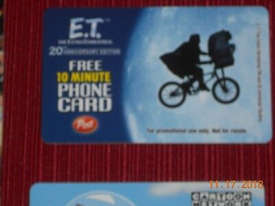COLLECTIBLE  Phone Cards (5) ET, JETSON, STACKHOUSE, CARTER, & FLOYD 3
