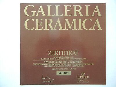 Heinrich Icono Del Año 1984 Madre de Dios Von Gietrzwald + Certificado N º 681+ 6
