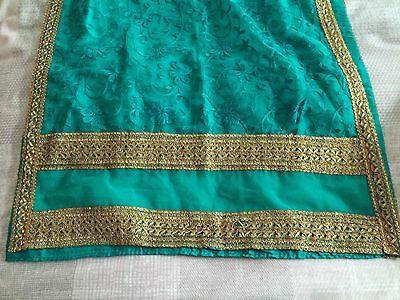 New Indian Asian Turquoise And Gold dress Churidar And kameez 3