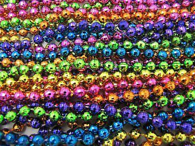 "Mardi Gras Beads Bright Neon Disco 6 Dozen 33"" Parade School Party 72 Necklaces 7"
