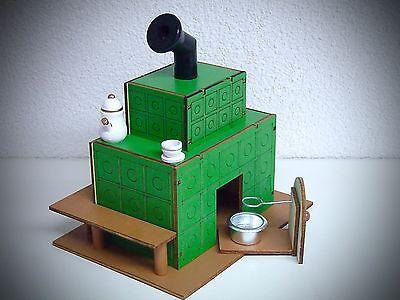 Holz Ofen Räucherhaus Räucherfigur Räuchermann Räucherofen mit Topf 20 cm 40476