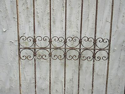 Antique Victorian Iron Gate Window Garden Fence Architectural Salvage Door #331 3