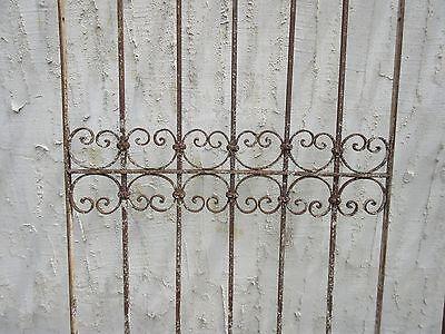 Antique Victorian Iron Gate Window Garden Fence Architectural Salvage Door #331 3