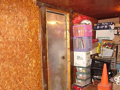 ANTIQUE MEAT LOCKER STEAMPUNK  Refrigerator, Wine Cellar Wood Door,
