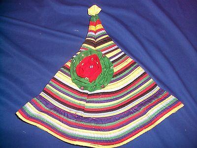 Ladies Womens Festival Party Sun Hat - Colourful Pixie Funky Hippie Rainbow. 3