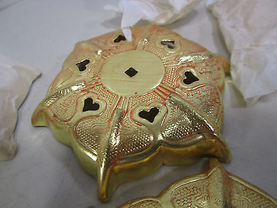 6 Kato Kogei Gold Colored Nail Head Covers for Decor Use NOS 4