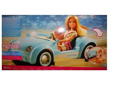 Barbie Beach Glam cruiser car & doll gift set 2006 Rare HTFN BNIB 2