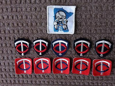 Vintage Minnesota Twins Cooperstown Patches 11 Pc. Lot  Old School Logos RARE !! 2