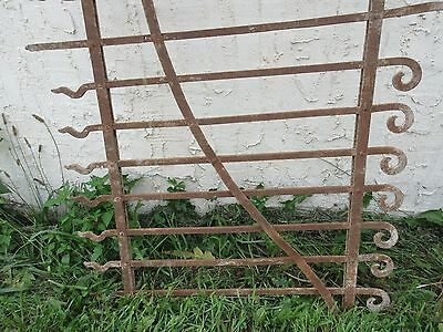 Antique Victorian Iron Gate Window Garden Fence Architectural Salvage Door #72 2