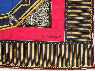 SUPERBE FOULARD MUST DE CARTIER 100% soie TBEG vintage scarf - EUR ... 527cb34eb43