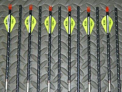 11.3 GPI-Cut//Insert Av New 12 Easton FMJ 340 Spine 5MM Arrows-Full Metal Jacket