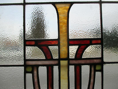 ~ Antique American Stained Glass Window ~ 44 X 36 ~ Architectural Salvage ~ 5