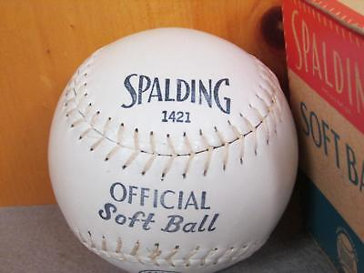 vintage SPALDING Early 1421 Kapok Zentrum Softball 30.5cm mit orig.box NEU