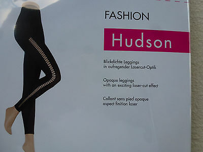 Hudson Fashion Leggings//Leggins//Collant sans pied blickdicht matt 60 den black