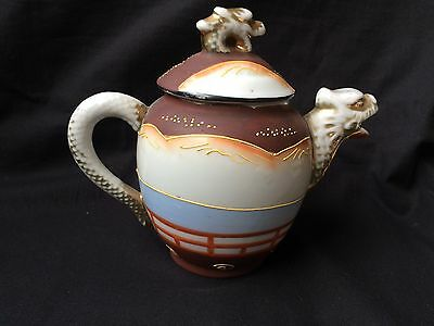 Antique tea set Japanese Meiji Period SATSUMA Pottery . Marked