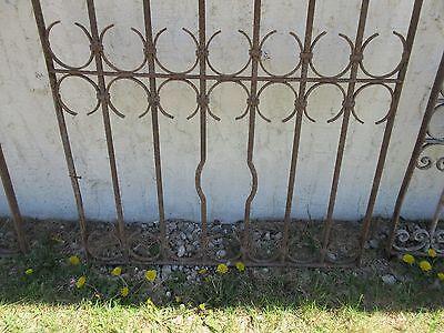 Antique Victorian Iron Gate Window Garden Fence Architectural Salvage Door #389 4
