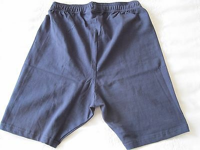 "Girls/Ladies Cycle Shorts NAVY size L (34-36"" Waist) Cotton/Elastane UK Made NEW 3"
