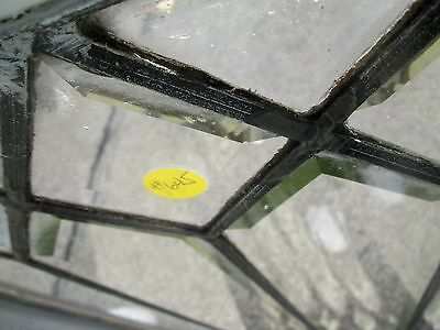 "Antique Beveled Glass 49"" Long Transom Window Priced To Sell Arts & Crafts # 645 4"
