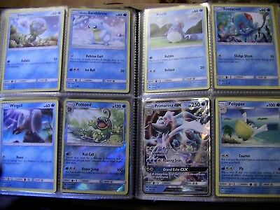 full Folder sun & moon pokemon cards huge bundle no doubles lots rare/holo/GX 2 4